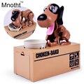 16x15x8 cm Tamanho Economizar Dinheiro Brinquedos Do Cão Automática Roubou Coin Money Saving Box de Presente para crianças com Cães Eletrônicos
