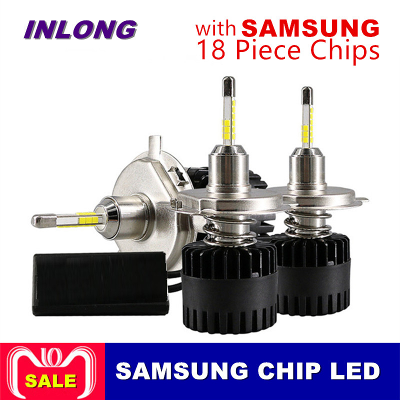 Inlong 2Pcs H4 LED Headlight Bulbs  H11 H1 H7 9005 9006 SAM Chips  80W 10000LM 6500K Car Led Auto Headlamp Headlights Fog LightsInlong 2Pcs H4 LED Headlight Bulbs  H11 H1 H7 9005 9006 SAM Chips  80W 10000LM 6500K Car Led Auto Headlamp Headlights Fog Lights