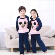 3d1044b3e3 Hot Sell Spring Loungewear Coral Fleece Homewear Winter Pyjama Set Children  Extreme Soft Pjs Girls Flannel