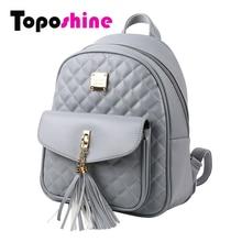 hot deal buy toposhine 2017 fashion women backpacks black pu leather lady backpacks girls backpacks popular cute ladies school bags 1743