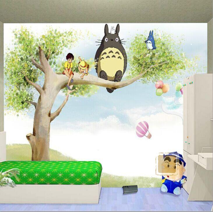 anime bedroom background cartoon children totoro nursery wall murals television film zoom wallpapers