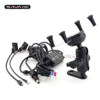GPS Navigation Mount Bracket Mobile Phone Holder with USB Charger For YAMAHA XT 660R/660X/660Z/1200Z V MAX1700 XT660 XT1200Z