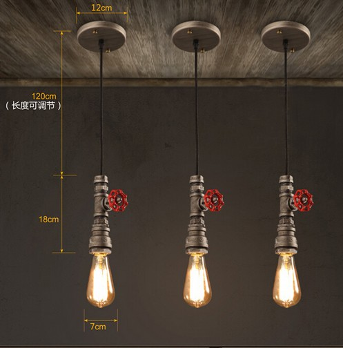 vintage pendant lighting fixtures. Loft Style Water Pipe Lamps Retro Pendant Light Fixtures Vintage Industrial Lighting For Living Dining Room Bar Hanging Lamp-in Lights From