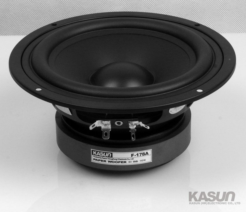 2PCS Kasun F-178A 6.5'' Paper Woofer Speaker Driver Unit PP Cone 8ohm/110W Max Dia178mm Fs 41Hz 2pcs kasun qa 8100 8inch woofer speaker driver unit paper cone 8ohm 140w dia 218mm fs 45hz