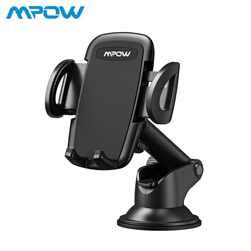 Mpow CA064 Car Phone Holder Dashboard Windshield Phone Upgraded TPU Mount Stand 360 Degree Rotation For iPhone X 8 7 Plus Xiaomi steering wheel phone holder