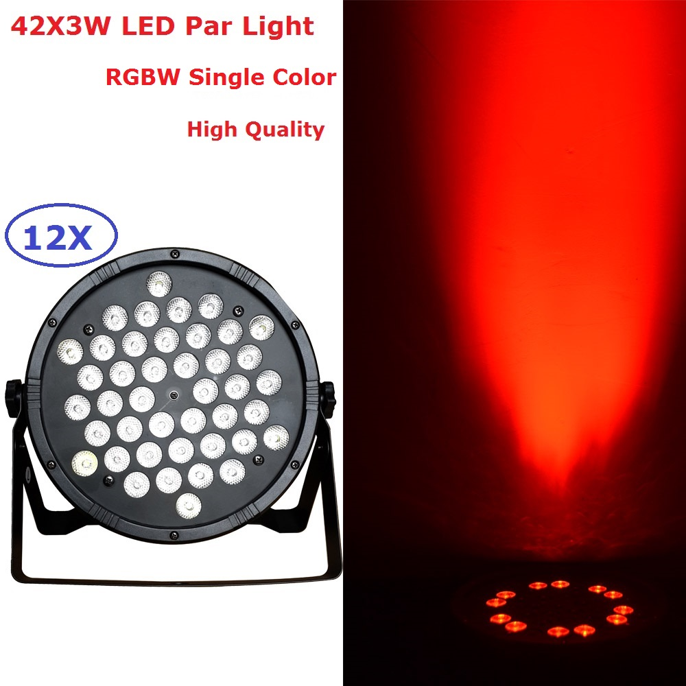 12Pcs/Lot New Arrival 120W Led Par Light 42*3W Flat Plastic LED Par Cans For Party Wedding Christmas Halloween Decoration plastic standing human skeleton life size for horror hunted house halloween decoration