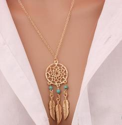 2016 best deal fashion retro women tassels feather pendant necklace jewelry bohemia dream catcher pendant chain.jpg 250x250