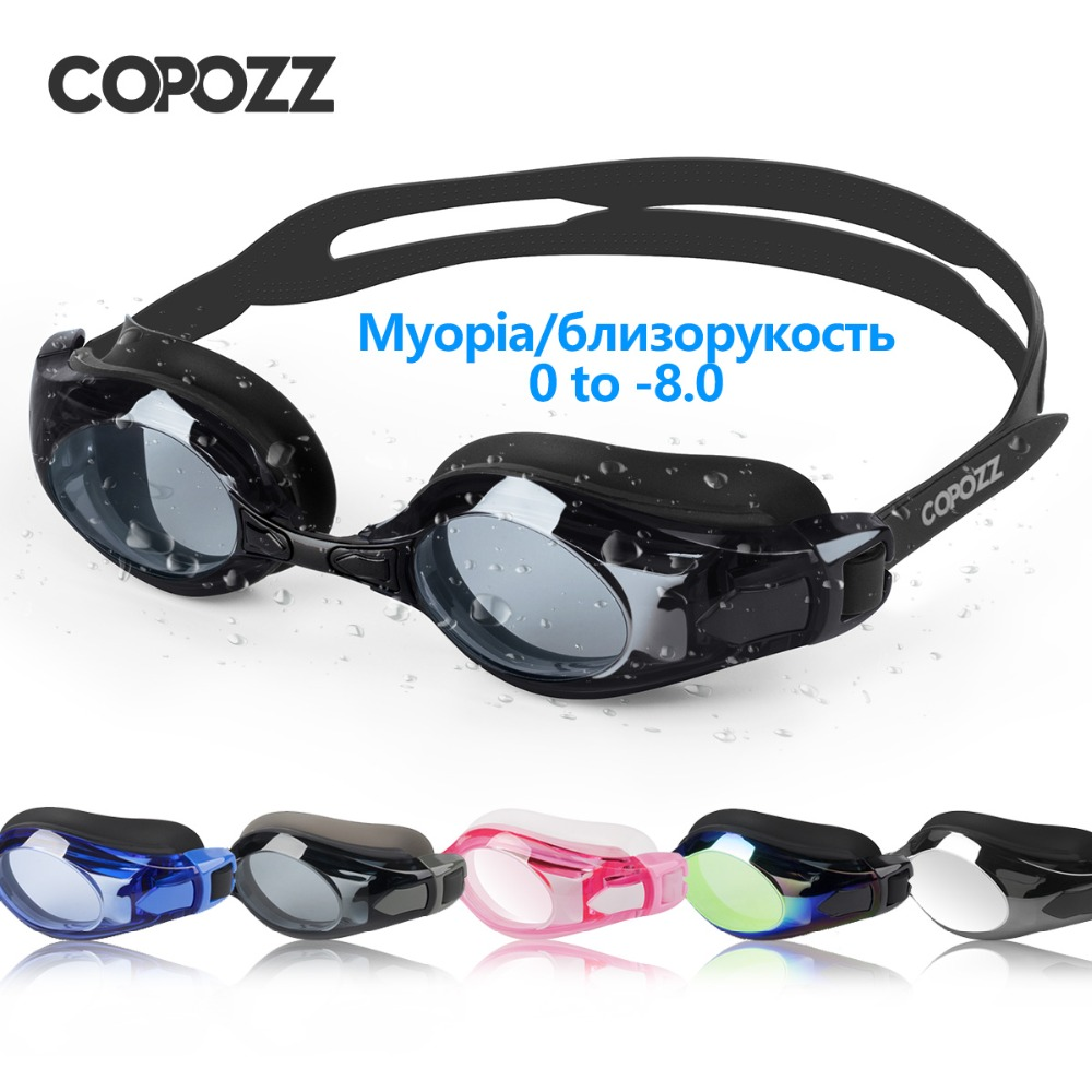 COPOZZ Swimming Goggles Myopia 0 -1.5 To -5 Support Anti Fog Eye UV Protecion Swimming Glasses Diopter Adult Men Women Zwembril