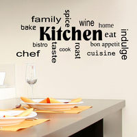 Wall Decal Quote Kitchen Family Spice Decal Dining Room Cafe Vinyl Decor