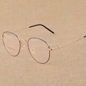 Image 3 - BCLEAR חדש זיכרון טיטניום סגסוגת רטרו Eyelasses מסגרת אישיות יוניסקס קוצר ראיה מסגרת ספרותי שטוח מחזה משקפיים גברים נשים