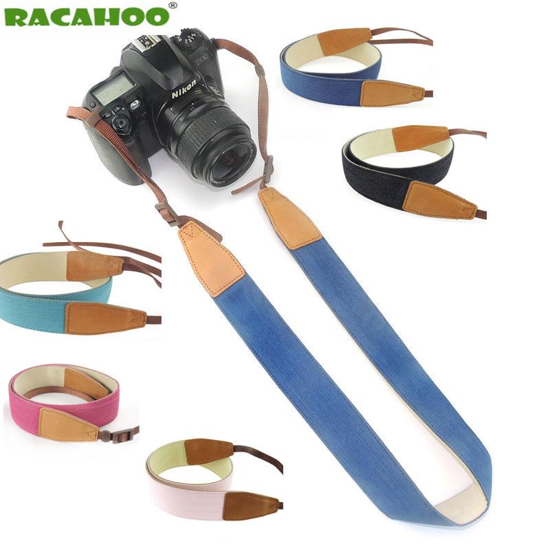RACAHOO Kameragurt Komfortabel Dekompression Denim Material Schulter Neck  Strap Gelten Für Alle Perforierte Kameras Für Canon