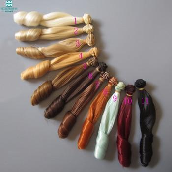 20 см толстые парики с волнистыми волосами для куклы для 1/3 1/4 1/6 BJD DIY кукольные волосы