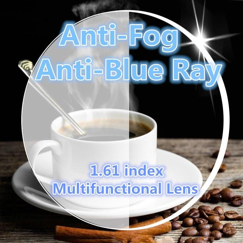Langford marque Anti-buée verres de prescription lentille 1.61 indice anti-bleu lentille en résine optique myopie astigmatisme/paire