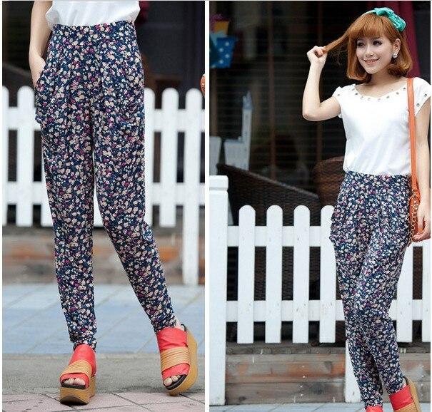 Aliexpress.com : Buy Fashion Printed Ice Silk Harem Pants Women's ...