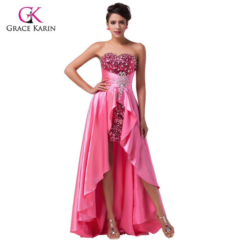 Aliexpress.com : Buy Grace Karin Sequin short front long ...