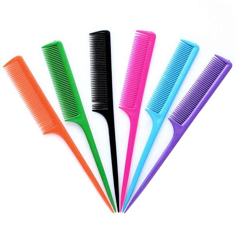 3pcs Candy Color Plastic Rattail Comb Tapered for Precise Sectioning twist Hair Combs Protective Hairstyle for Natural Hair