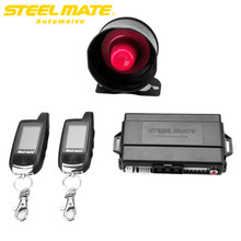 Steelmate 888E PKE Car Alarm System Remote Control Passive Smart Key Lock LED Indicator Valet Mode Trunk Release steel mate