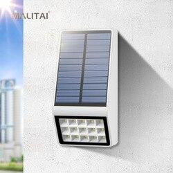 Солнечный садовый фонарик с защитой от воды радар Датчик Движения Солнечный светодиодный светильник наружный настенный забор Солнечная ла...