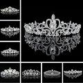 2016 Elegant Wedding Bridal Tiaras Crowns Headwear Rhinestone Pearl Wedding Hair Accessories Bride Pearl Jewelry For Women Girls