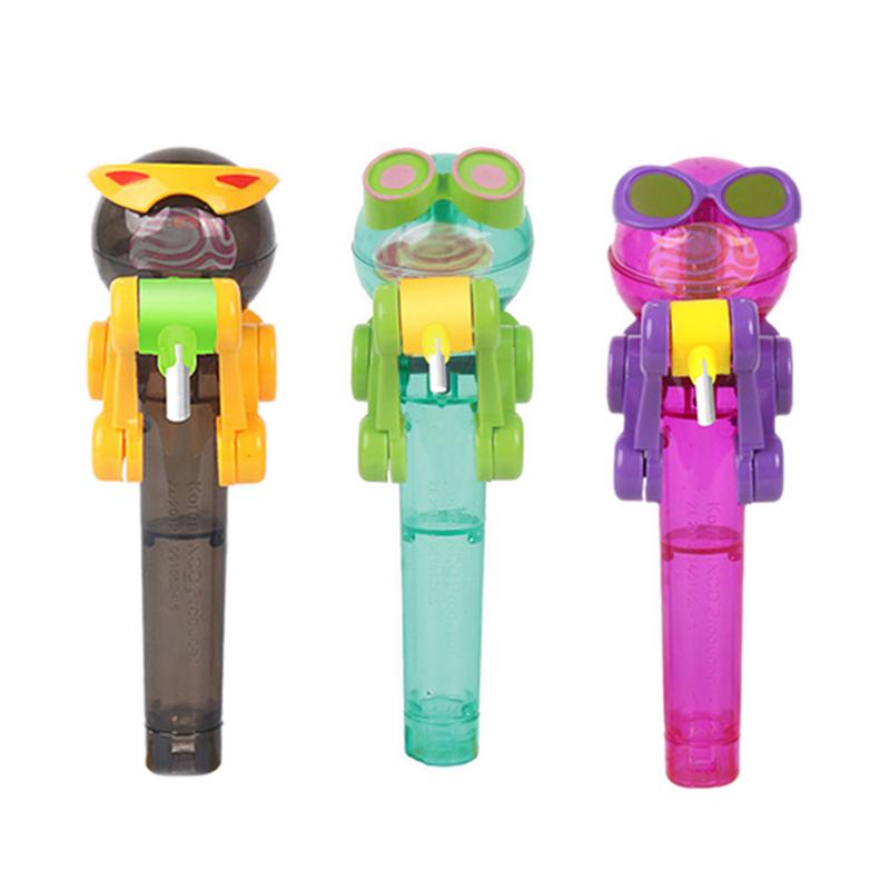 Newest Creative Personality Toy Lollipop Holder Decompression Toy Lollipop Robot Decompression Candy Dustproof Toy Lowest Price