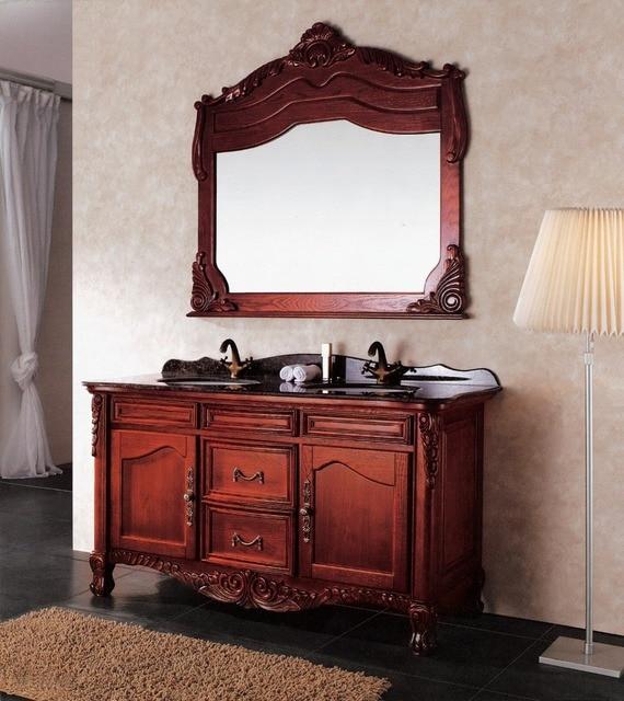 Nouveau Moderne haute qualité soild salle de bains en bois vanité ...