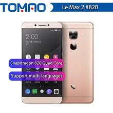 """Original letv leeco max2 x820 4g lte max 2 telefone móvel snapdragon 820 quad core 5.7 """"2560x1440 6 gb ram 64/128 gb rom 21mp google"""