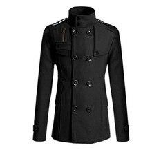 Новая мужская деловая Повседневная модная двубортная тонкая куртка с воротником Мужская ветровка куртка