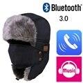 Outono Inverno Quente Beanie Hat Cap fone de Ouvido Fone De Ouvido Speaker Mic Sem Fio Bluetooth Inteligente Bluetooth Chapéu