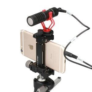 Image 5 - Ulanzi ST 03 téléphone trépied montage pince Smartphone support adaptateur avec chaussure froide pour iPhone X 7 samsung Xiaomi BY MM1 lumière Led