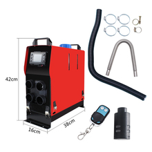 Parking Fuel Air Heater 5KW 12V Car Air Diesel Heater All-in-One Machine Single Hole LCD Monitor Car Accessories Car Heater 5kw mini silent diesel generator 6 25kva all in one genset