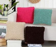 43x43cm/16.93x16.93 Soft Solid Cushion Cover Short Plush Decorative Throw Pillow Seat Sofa Embrace Case Home Decor