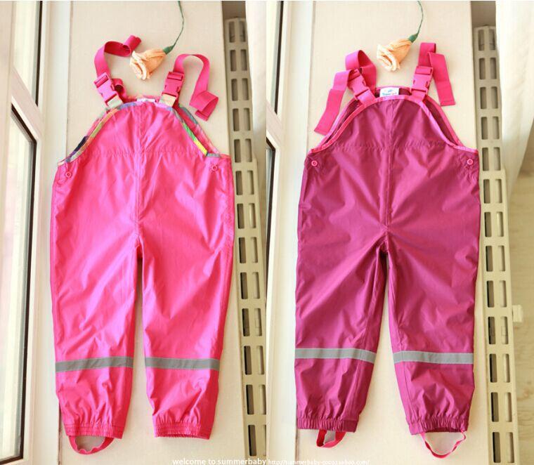 Seasons paragraph baby boys and girls strap rain pants beach pants pants pants rain pants waterproof ski pants Trousers pants