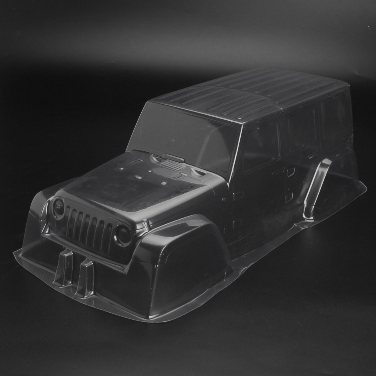 Pvc climbing car hard plastic transparent body shell for 1 for Pvc car