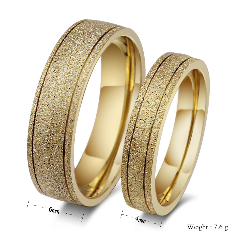 Wholesale 316l Stainless Steel Fine Jewelry Of Ring 18k Gold Plated