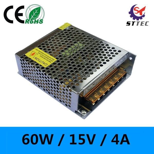 High quality LED driver 60W power supply 220V to 15V adaptor 4A supply transformers 10pcs fqpf4n90c 4n90 4a 900v to 220f