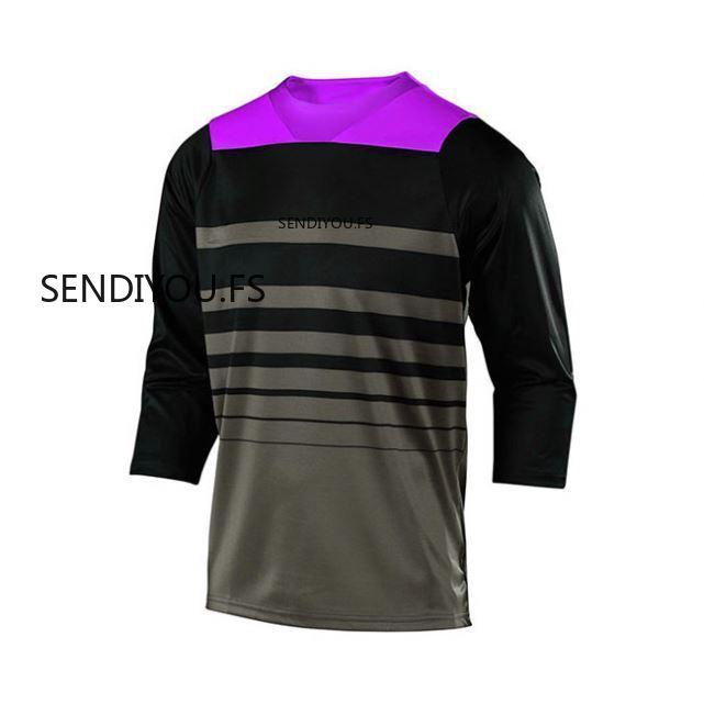 SENDIYOU.FS Mtb-Jersey Racing-Shirts Cross-Country-Sleeve Mountain-Bike 7-Points Latest-Design