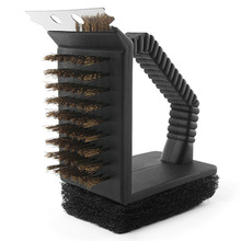 Grill Brush 3 1 Barbecue Brush, Scraper BBQ Brush Barbeque Plates Racks Burners Manufacturer Direct Outdoor BBQ tools Cleaning B
