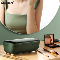 Kbxstart 12V Mini Portable Ultrasonic Cleaner 400ml Ultrasound Cleaning Machine for Jewelry Glass Razor Personal Care Tools