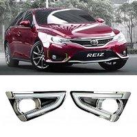 Car Daytime Running Lights LED DRL Daylight Fog Lamps Kit for Toyota Reiz / MARK X 2013 2014
