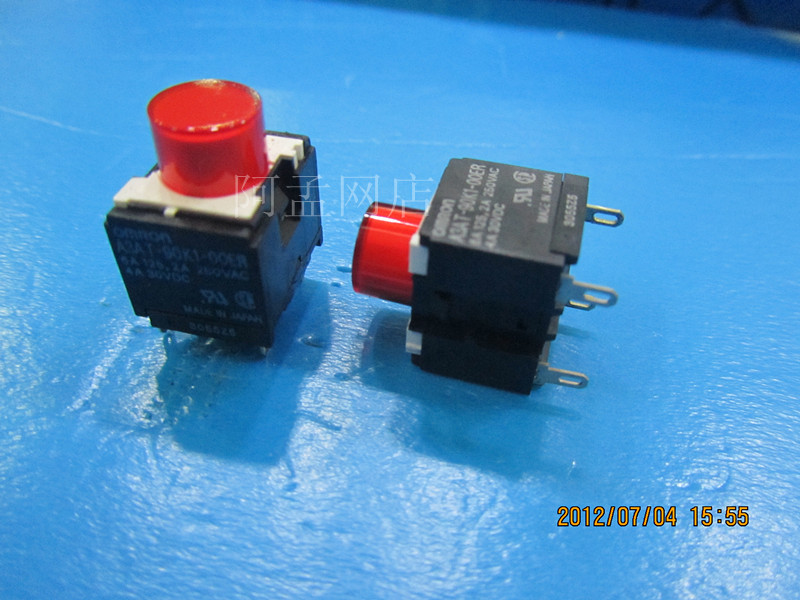 Original new 100% Japan import button switch A3AT-90K1-OOER A3AT-90K1-00ER 6A 125.2A 250VAC 4A 30VDC button switch a16l jya 12 1 original