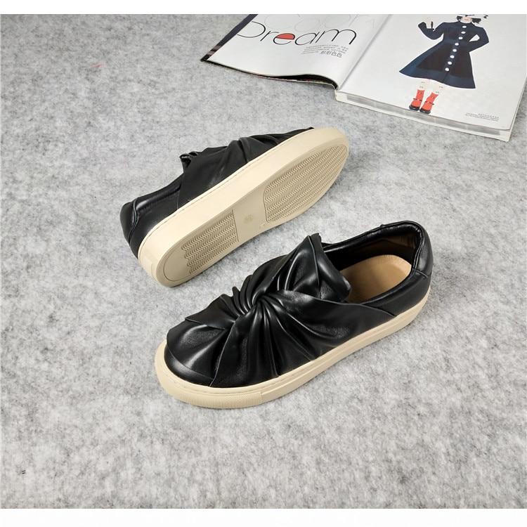 Feminino As Zapatos noeud forme Femme Chaussures Tipe Pic as Papillon Plate Tenis Pic Pour Appartements En Décontractées Mujer Conception De Cuir 354jqLRA