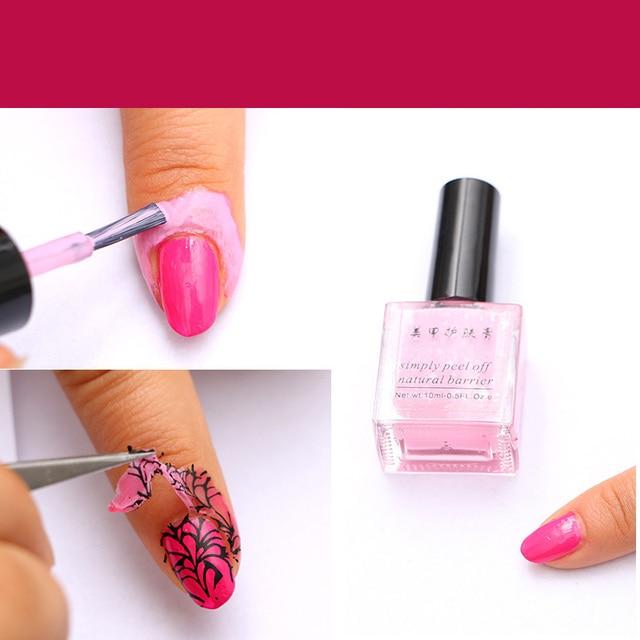 Nieuwe Nail Art Gel Vinger Huid Beschermd Lijm Roze Wit Peel Off