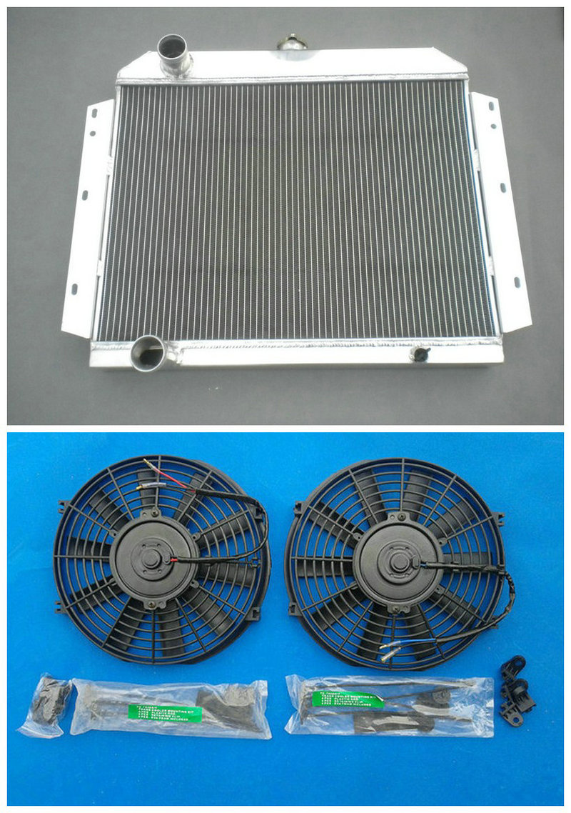 3 Row For International Scout V8 1966 1969 1967 1968 All Aluminum Chevy Impala Radiator Alloy 2 Pcs Fans In Oil Coolers From Automobiles Motorcycles On
