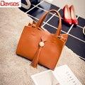 2017 Vintage Fashion Tassel Small Handbags Mini Shoulder Bags Women's Handbags Leather Flap Bag Famous Brand Women Handbag Sac