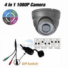 High Quality Metal Housing TVI AHD CVI Analog 1080P 4 in 1 Dome IR Camera 2.0MP With 2.8-12mm Varifocal Lens Outdoor Support UTC