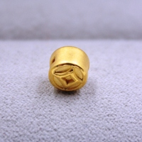 New Arrival Pure 999 24K Yellow Gold Women's 3D Coin Bead Pendant 0.4 0.6g