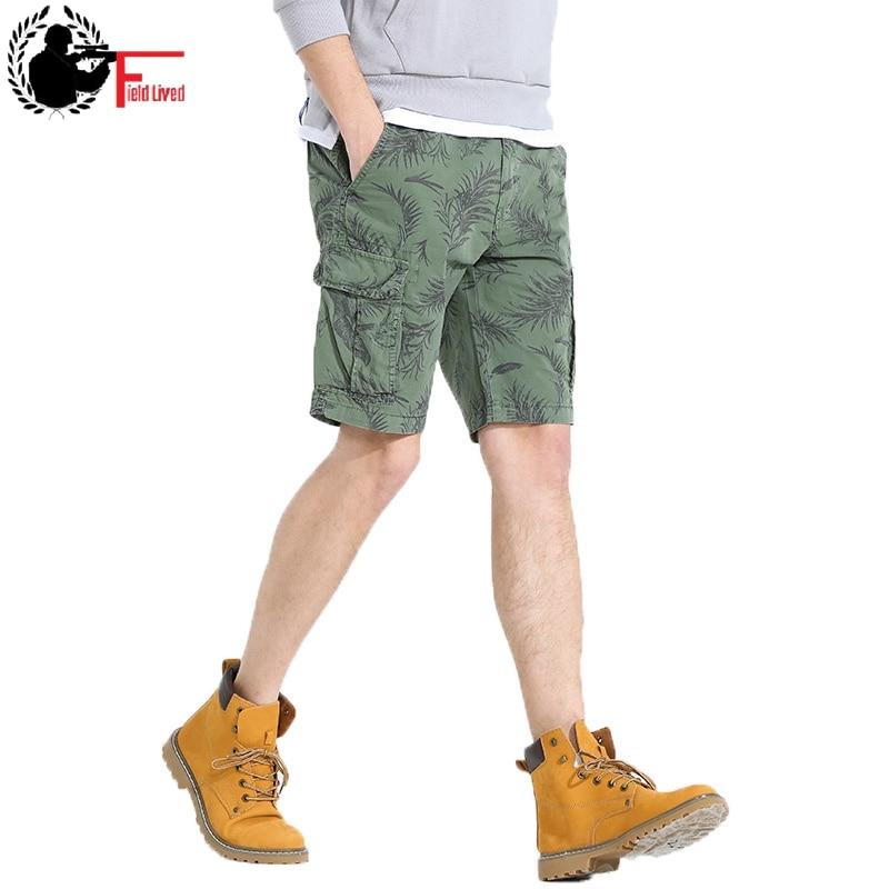 Camouflage Short Pants Men Cargo Shorts Men Cotton Washed Bermudas Breeches Men Young Summer Hot Camo Overalls Male Clothes 2019