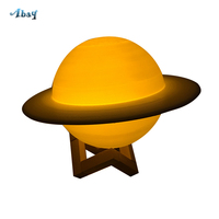 Creative Usb Led 3d Moon Lamp Color Changing Remote Control Various Planets Shape Kids Night Light Cute Children Room Decoration