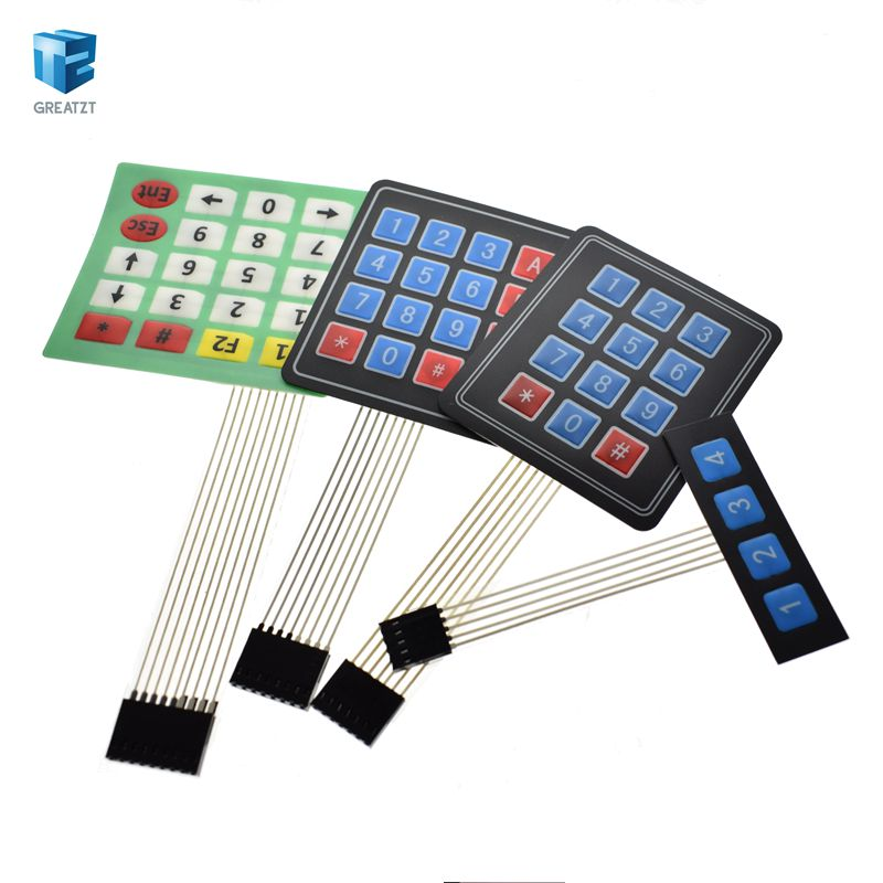 4 x 4 Matrix Keypad Membrane Switch 8 pins connector SCM Outside enlarge Keypad Compatible With Arduino by Atomic Market