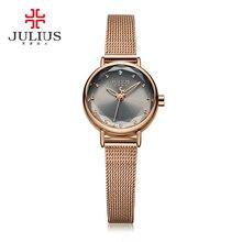 Новое поступление Часы дешевая женская обувь творческие часы стороны смотреть платье простой Металлические Розы Дизайн кварц-часы оптом Прямая поставка JA-942